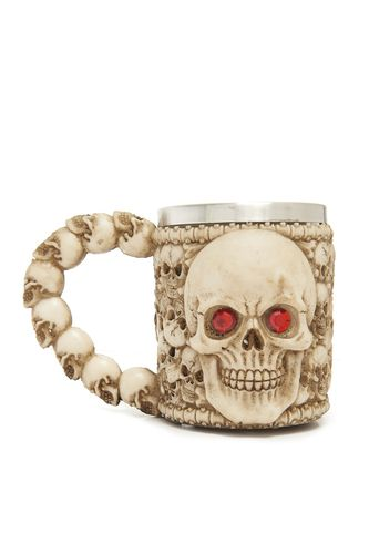 Beer Mug all over Skull