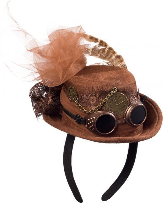 8612c10b6c0 Steampunk lady mini hat on hairband - KeMa World Shop