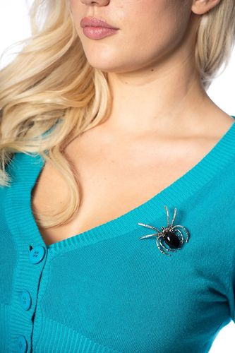ONYX BLISS BROACH Spider