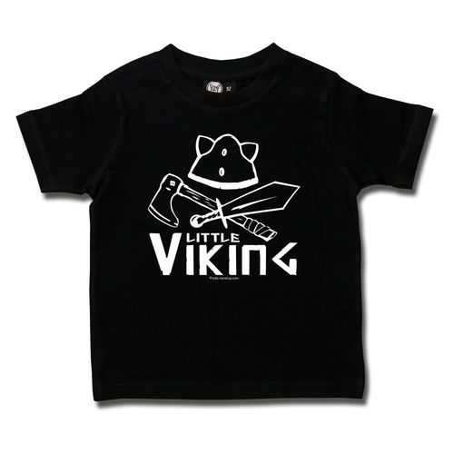 schwarzes Little Viking Tshirt