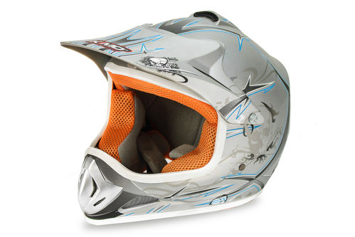Kinder Xtreme matt Cross Helm
